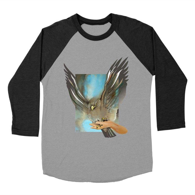 Eagles' Wings Men's Baseball Triblend Longsleeve T-Shirt by Patricia Howitt's Artist Shop