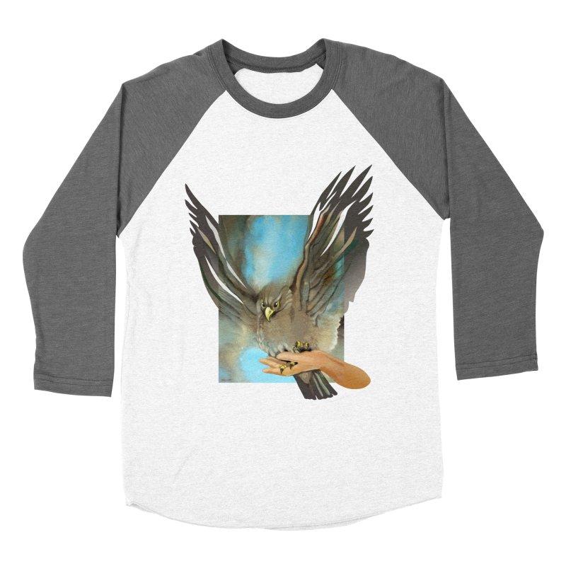 Eagles' Wings Men's Baseball Triblend T-Shirt by Patricia Howitt's Artist Shop