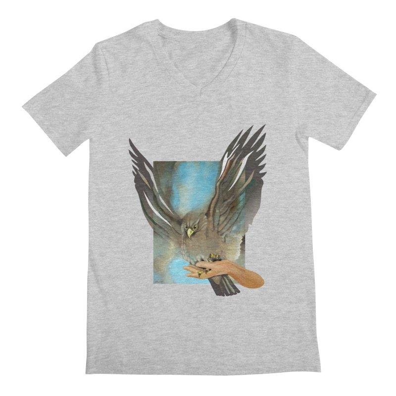 Eagles' Wings Men's Regular V-Neck by Patricia Howitt's Artist Shop