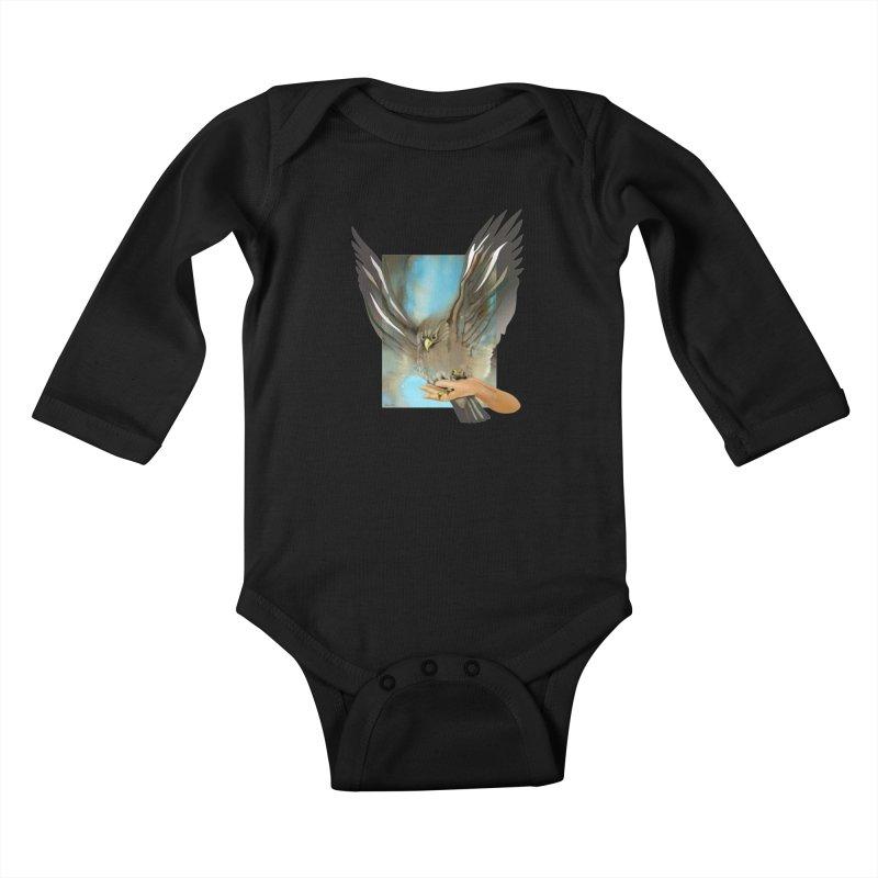 Eagles' Wings Kids Baby Longsleeve Bodysuit by Patricia Howitt's Artist Shop