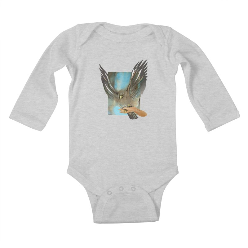 Eagles' Wings Kids Baby Longsleeve Bodysuit by Patricia Howitt's Artist Shop