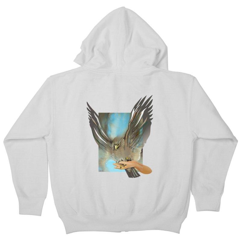 Eagles' Wings Kids Zip-Up Hoody by Patricia Howitt's Artist Shop