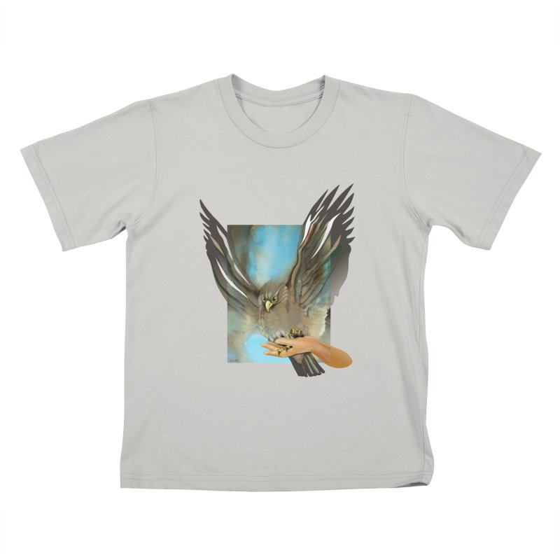 Eagles' Wings Kids T-shirt by Patricia Howitt's Artist Shop