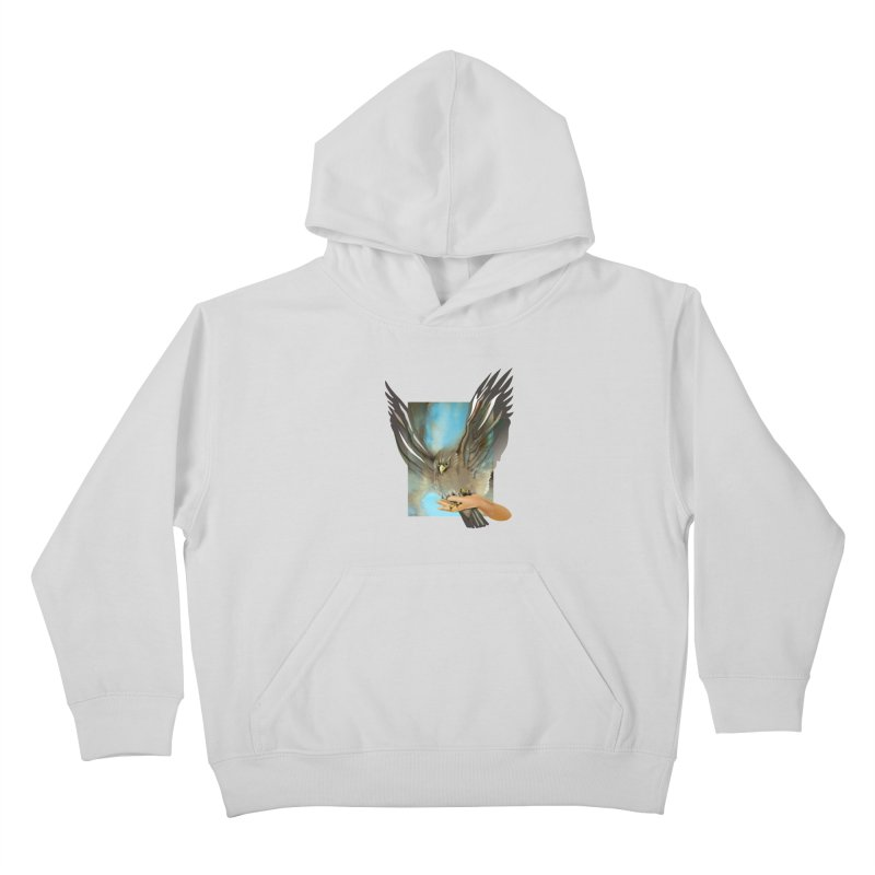Eagles' Wings Kids Pullover Hoody by Patricia Howitt's Artist Shop