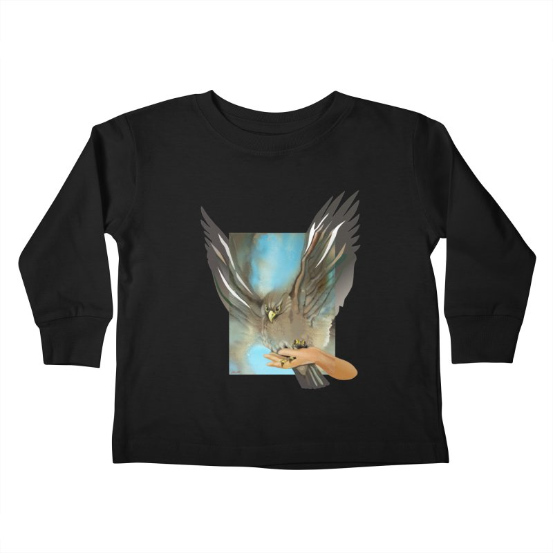 Eagles' Wings Kids Toddler Longsleeve T-Shirt by Patricia Howitt's Artist Shop