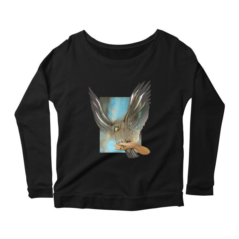 Eagles' Wings Women's Longsleeve Scoopneck  by Patricia Howitt's Artist Shop