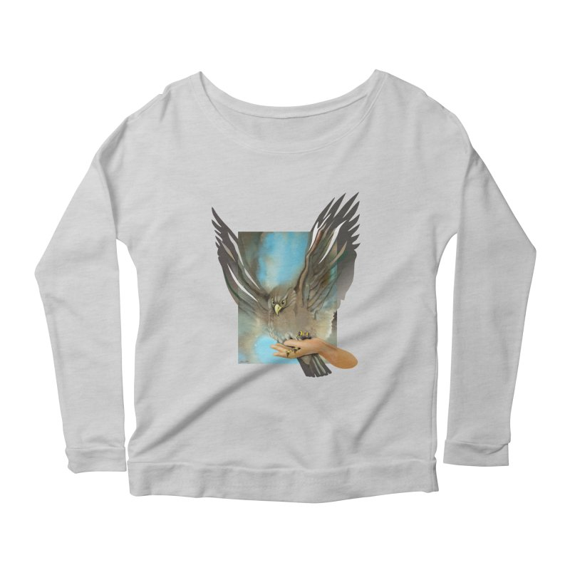 Eagles' Wings Women's Scoop Neck Longsleeve T-Shirt by Patricia Howitt's Artist Shop