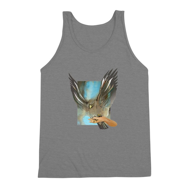 Eagles' Wings Men's Triblend Tank by Patricia Howitt's Artist Shop