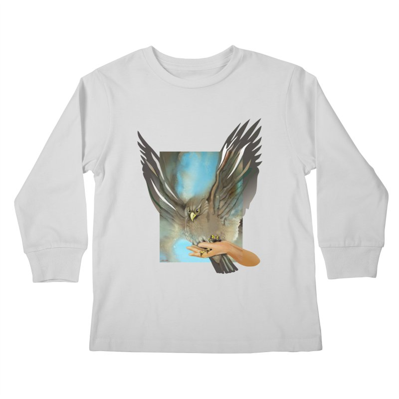Eagles' Wings Kids Longsleeve T-Shirt by Patricia Howitt's Artist Shop