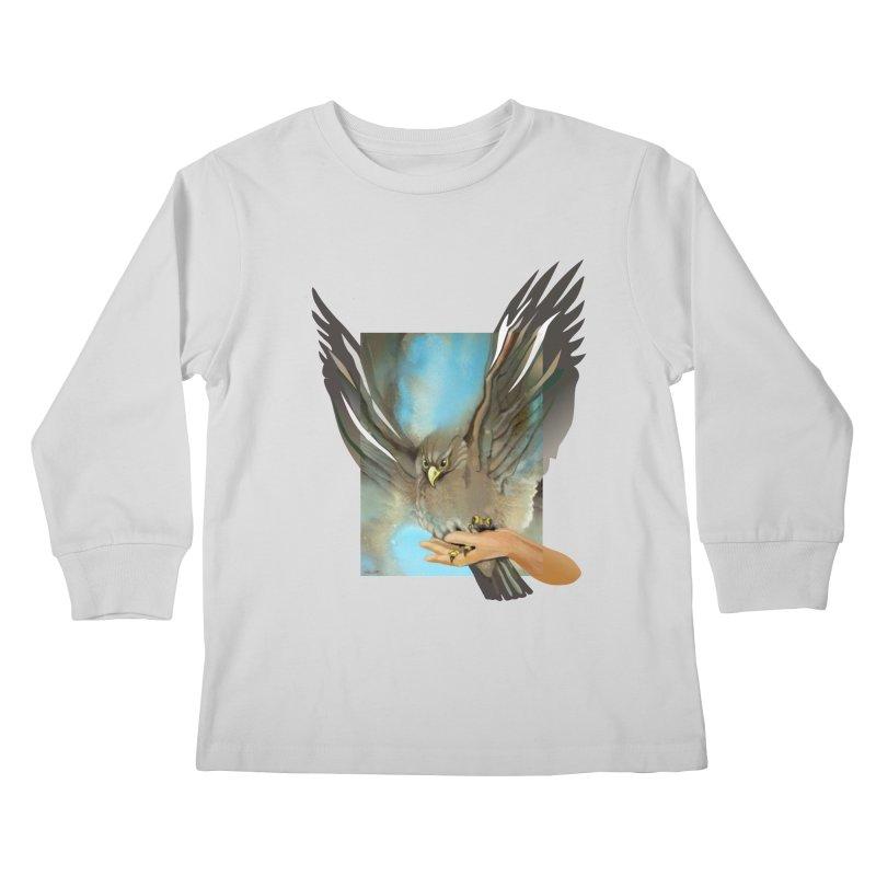 Eagles' Wings Kids Longsleeve T-Shirt by Patricia Howitt's Artist Shop
