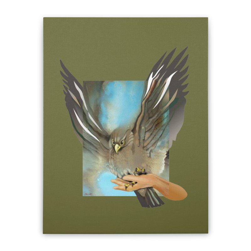 Eagles' Wings Home Stretched Canvas by Patricia Howitt's Artist Shop