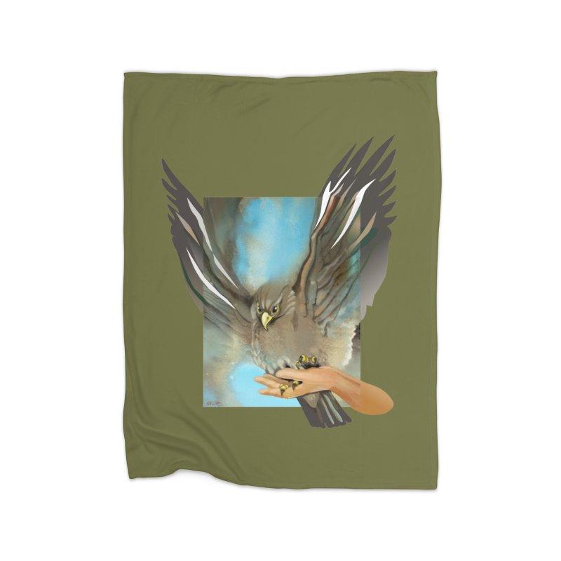 Eagles' Wings Home Fleece Blanket Blanket by Patricia Howitt's Artist Shop
