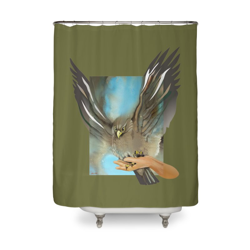 Eagles' Wings Home Shower Curtain by Patricia Howitt's Artist Shop