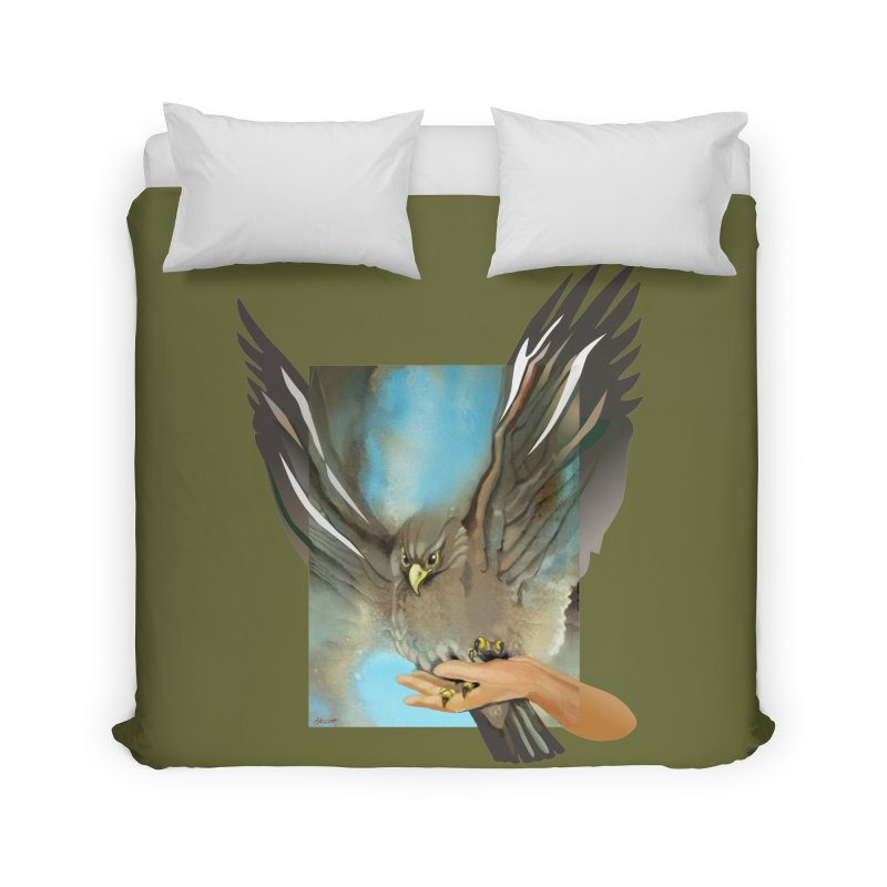 Eagles' Wings Home Duvet by Patricia Howitt's Artist Shop