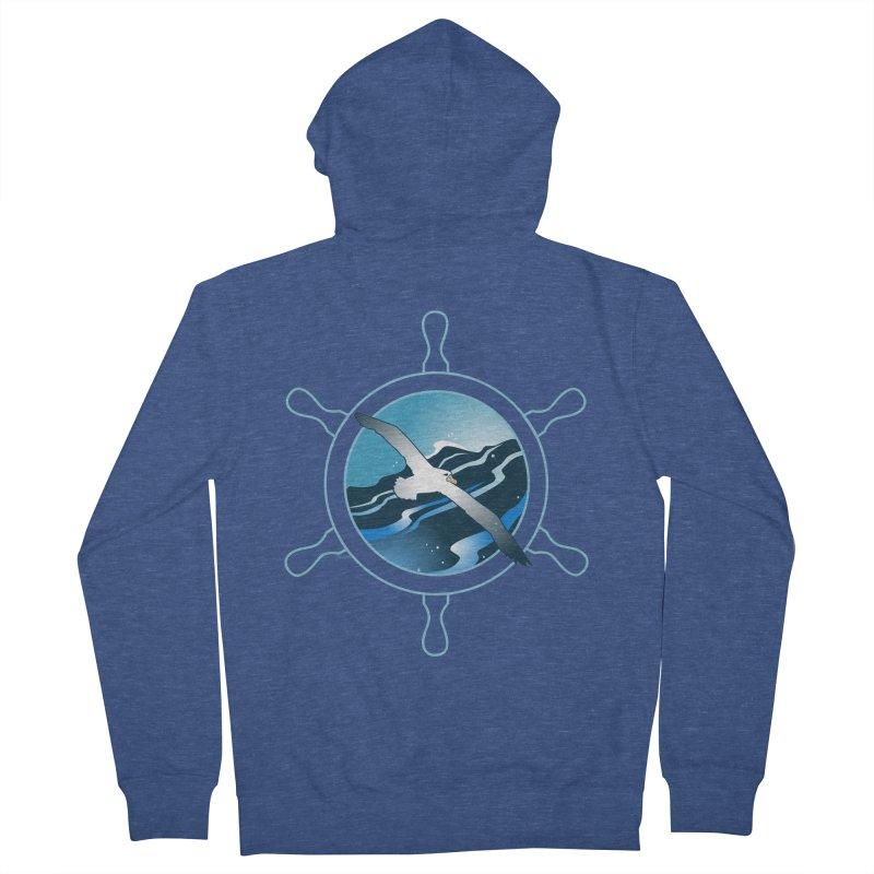 Albatross 2 Men's Zip-Up Hoody by Patricia Howitt's Artist Shop