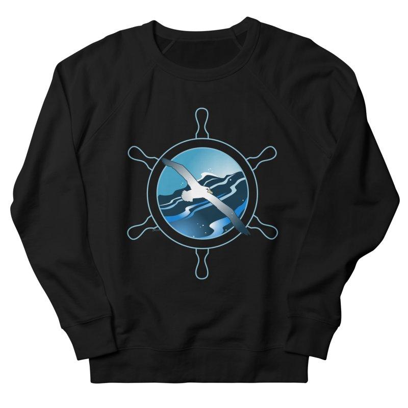 Albatross 2 Men's French Terry Sweatshirt by Patricia Howitt's Artist Shop