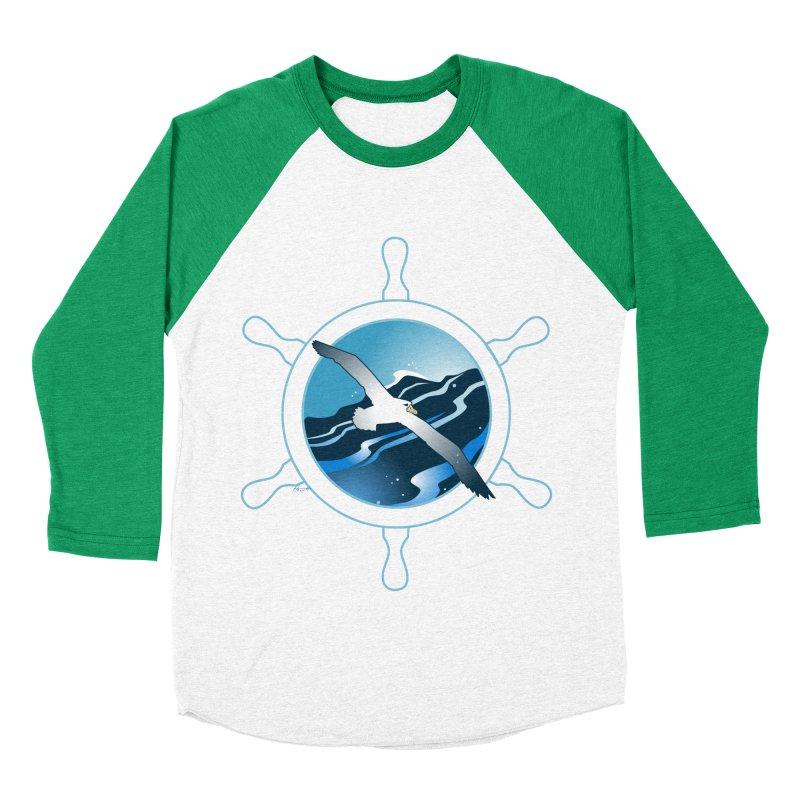Albatross 2 Women's Baseball Triblend Longsleeve T-Shirt by Patricia Howitt's Artist Shop