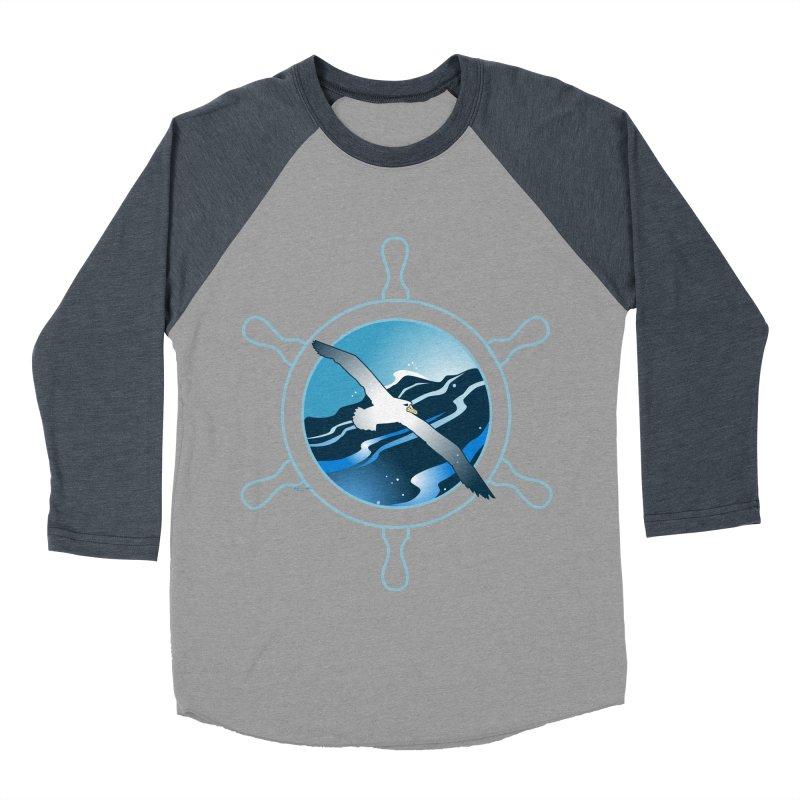 Albatross 2 Men's Baseball Triblend Longsleeve T-Shirt by Patricia Howitt's Artist Shop