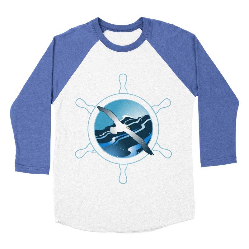 Albatross 2 Men's Baseball Triblend T-Shirt by Patricia Howitt's Artist Shop