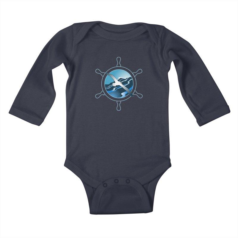 Albatross 2 Kids Baby Longsleeve Bodysuit by Patricia Howitt's Artist Shop