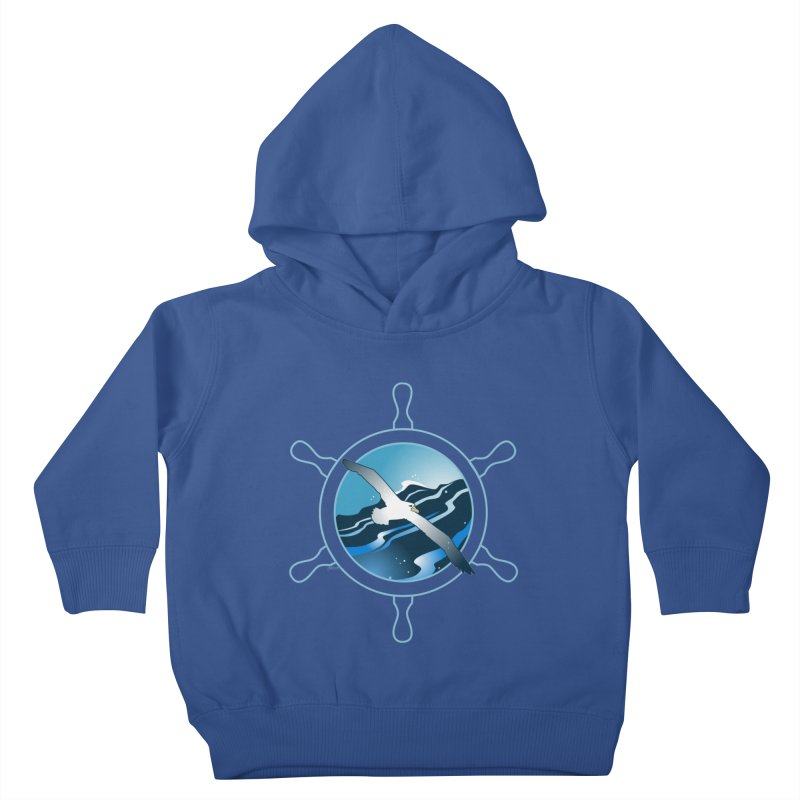 Albatross 2 Kids Toddler Pullover Hoody by Patricia Howitt's Artist Shop