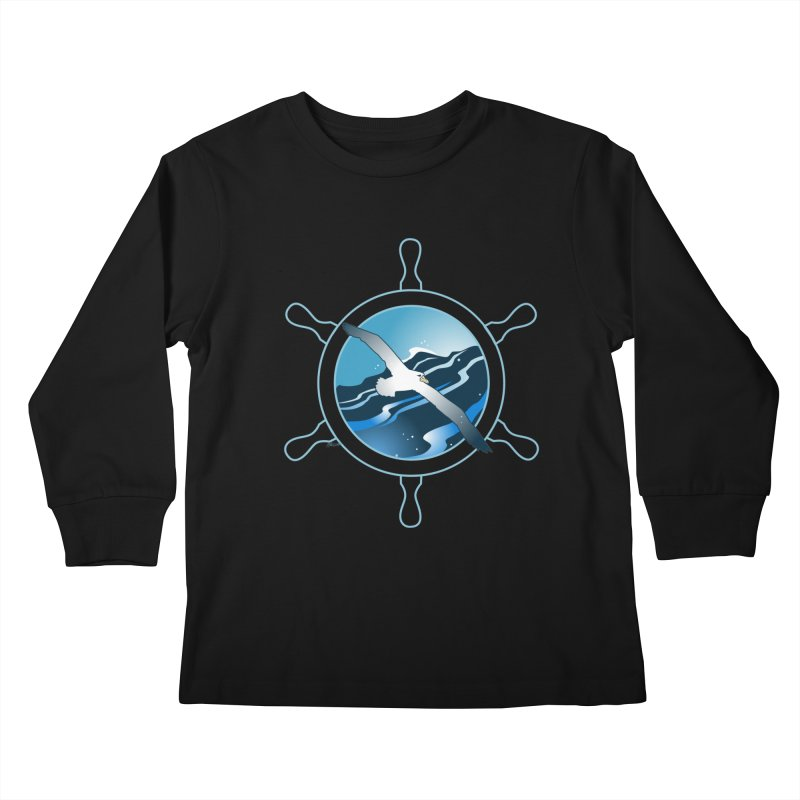 Albatross 2 Kids Longsleeve T-Shirt by Patricia Howitt's Artist Shop