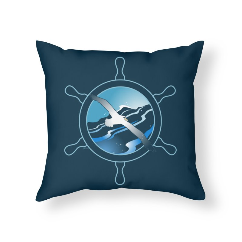 Albatross 2 Home Throw Pillow by Patricia Howitt's Artist Shop