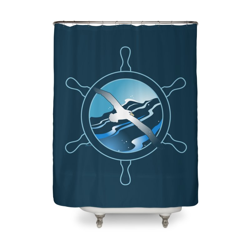 Albatross 2 Home Shower Curtain by Patricia Howitt's Artist Shop