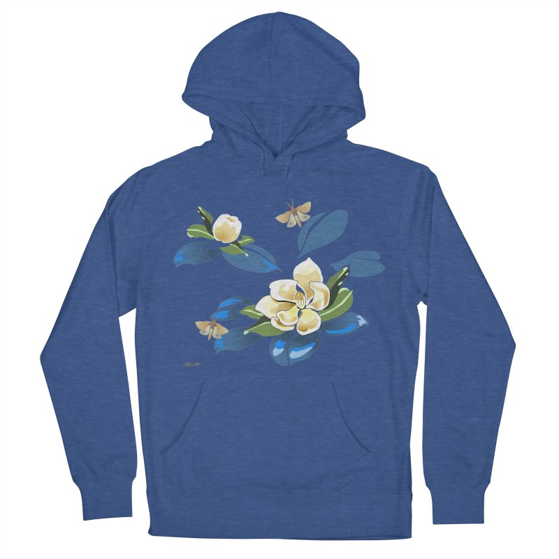 Night Magnolia Women's French Terry Pullover Hoody by Patricia Howitt's Artist Shop