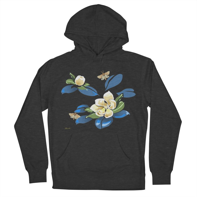 Night Magnolia Men's French Terry Pullover Hoody by Patricia Howitt's Artist Shop