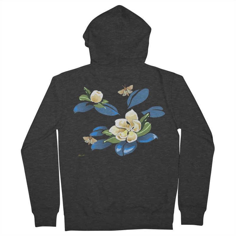 Night Magnolia Women's French Terry Zip-Up Hoody by Patricia Howitt's Artist Shop