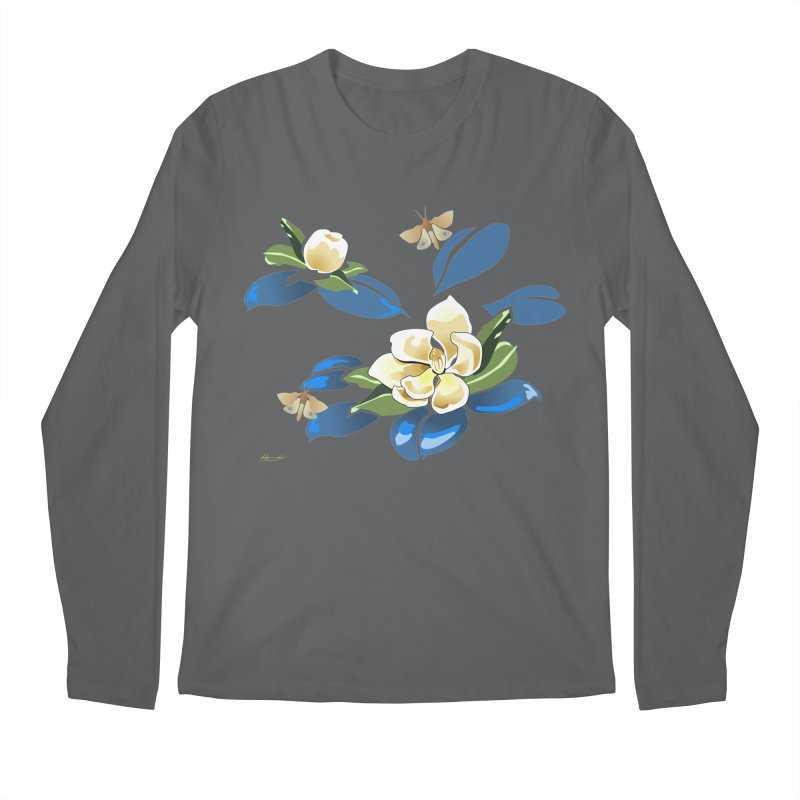 Night Magnolia Men's Regular Longsleeve T-Shirt by Patricia Howitt's Artist Shop