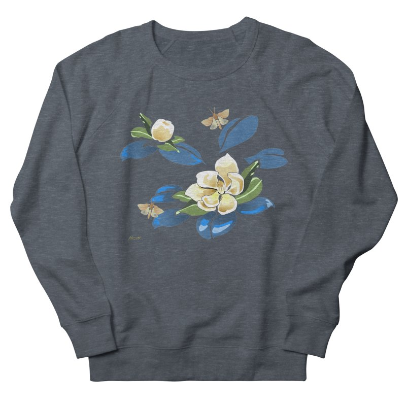 Night Magnolia Women's French Terry Sweatshirt by Patricia Howitt's Artist Shop