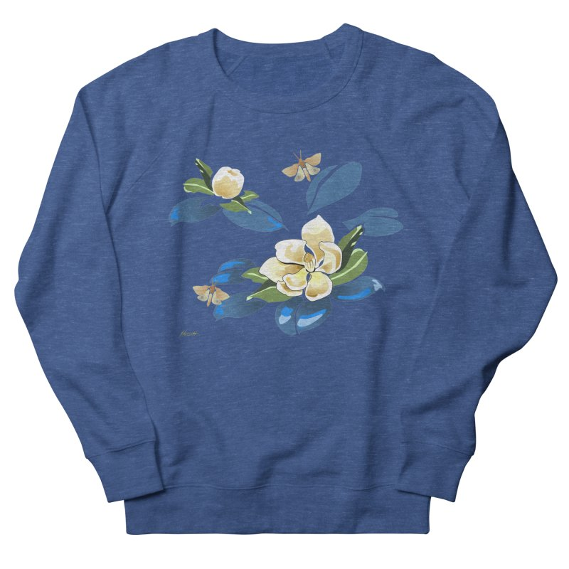 Night Magnolia Men's French Terry Sweatshirt by Patricia Howitt's Artist Shop