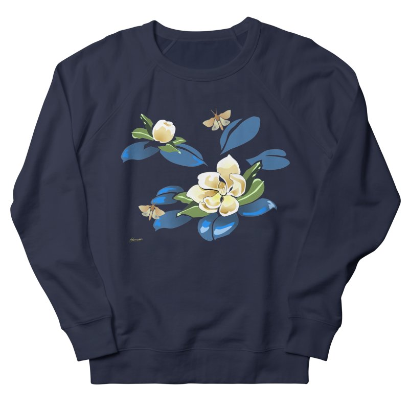 Night Magnolia Men's Sweatshirt by Patricia Howitt's Artist Shop