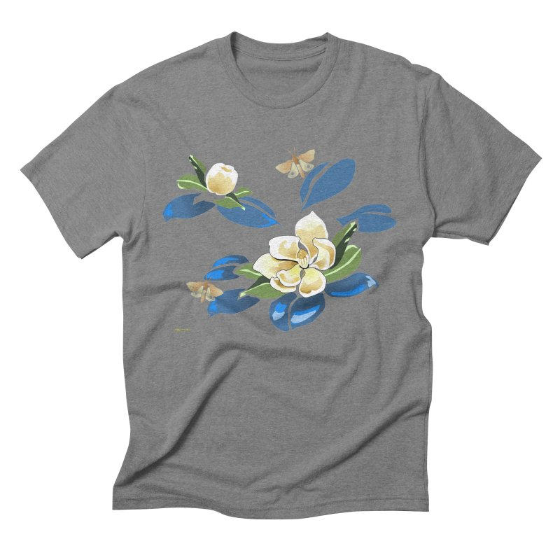 Night Magnolia Men's Triblend T-Shirt by Patricia Howitt's Artist Shop