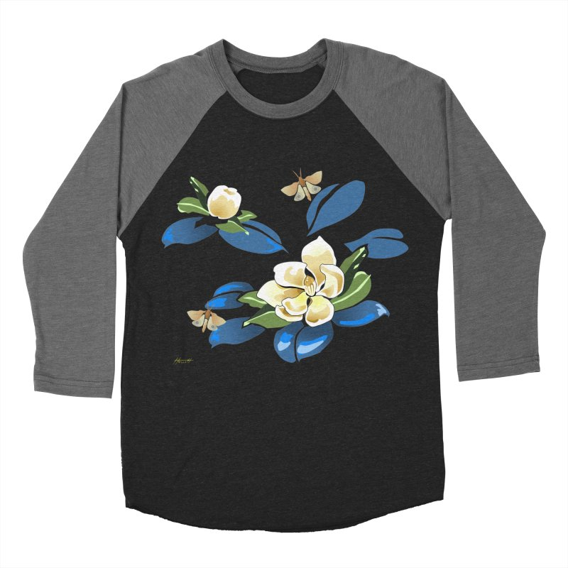 Night Magnolia Women's Baseball Triblend T-Shirt by Patricia Howitt's Artist Shop