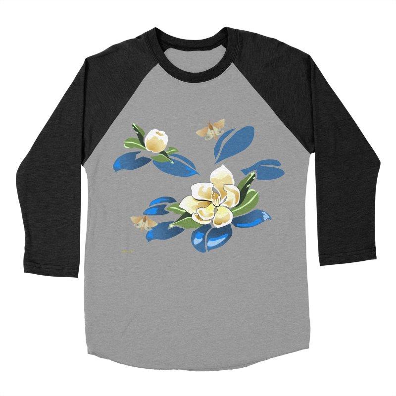 Night Magnolia Men's Baseball Triblend Longsleeve T-Shirt by Patricia Howitt's Artist Shop