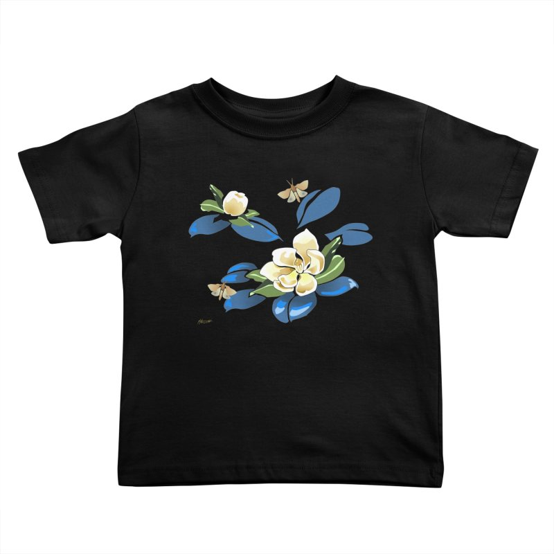 Night Magnolia Kids Toddler T-Shirt by Patricia Howitt's Artist Shop