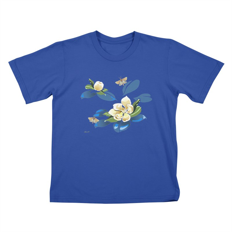 Night Magnolia Kids T-shirt by Patricia Howitt's Artist Shop