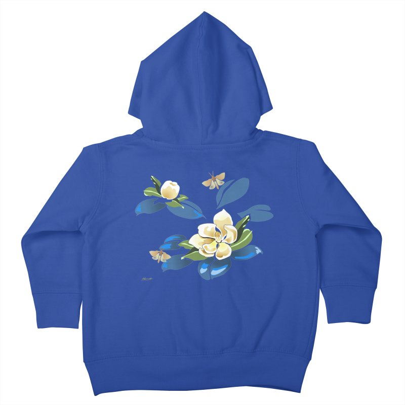 Night Magnolia Kids Toddler Zip-Up Hoody by Patricia Howitt's Artist Shop