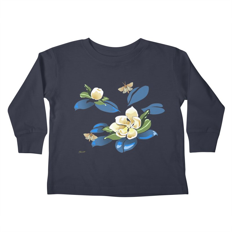 Night Magnolia Kids Toddler Longsleeve T-Shirt by Patricia Howitt's Artist Shop