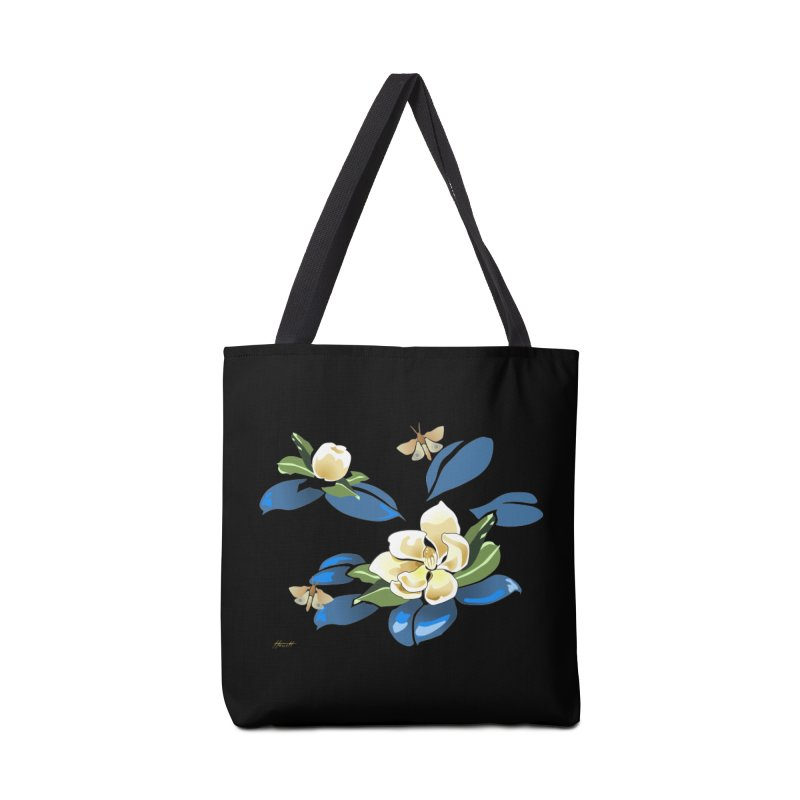 Night Magnolia Accessories Bag by Patricia Howitt's Artist Shop