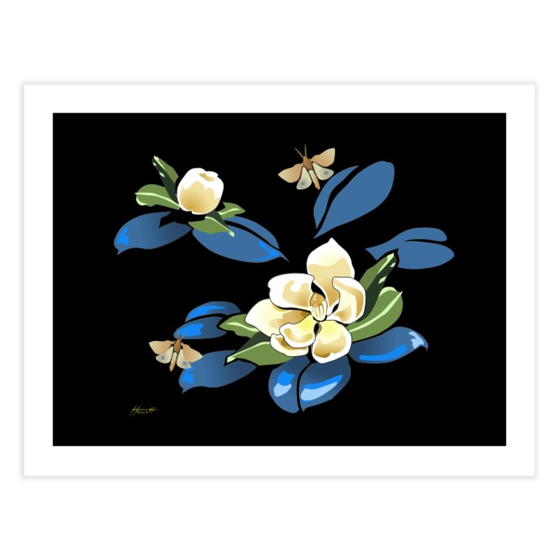 Night Magnolia Home Fine Art Print by Patricia Howitt's Artist Shop
