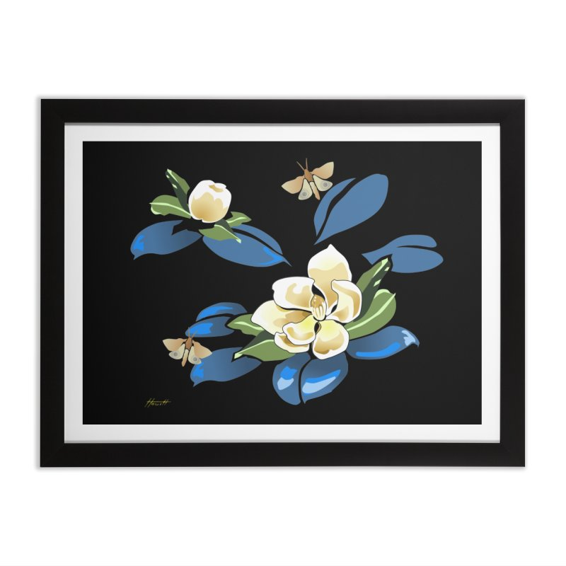 Night Magnolia Home Framed Fine Art Print by Patricia Howitt's Artist Shop