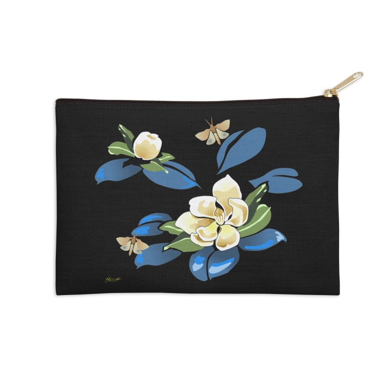 Night Magnolia Accessories Zip Pouch by Patricia Howitt's Artist Shop
