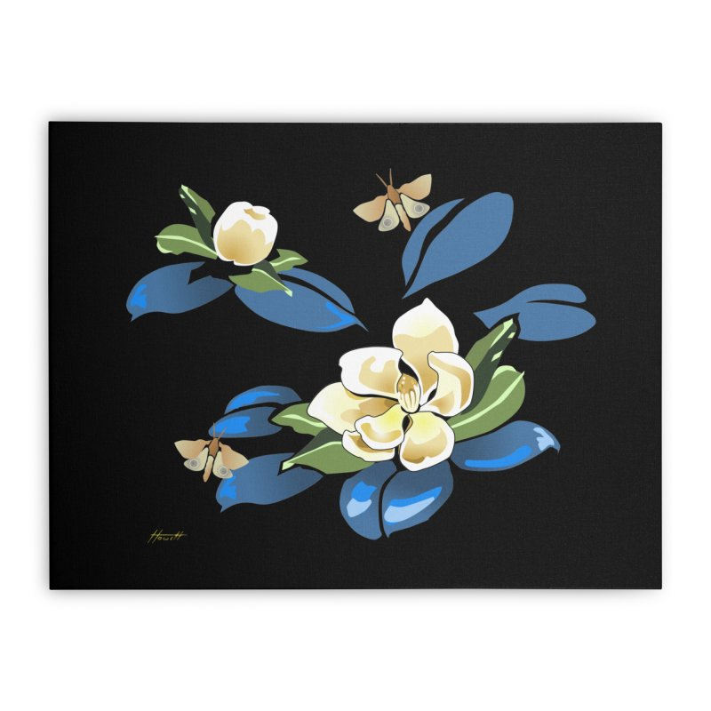 Night Magnolia Home Stretched Canvas by Patricia Howitt's Artist Shop