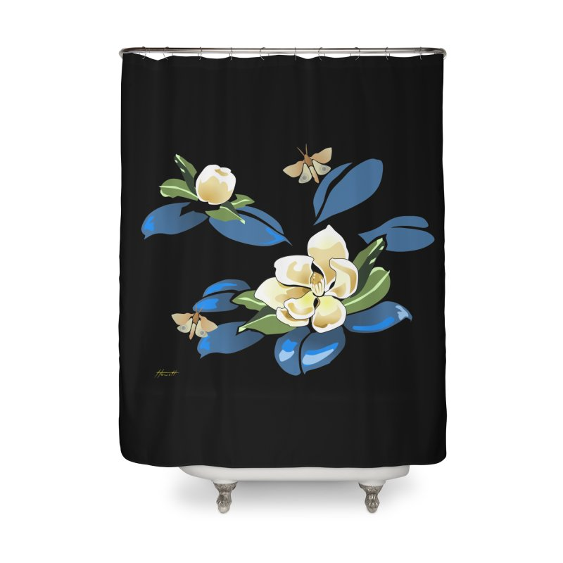 Night Magnolia Home Shower Curtain by Patricia Howitt's Artist Shop