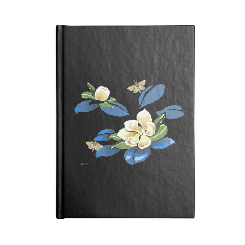 Night Magnolia Accessories Notebook by Patricia Howitt's Artist Shop