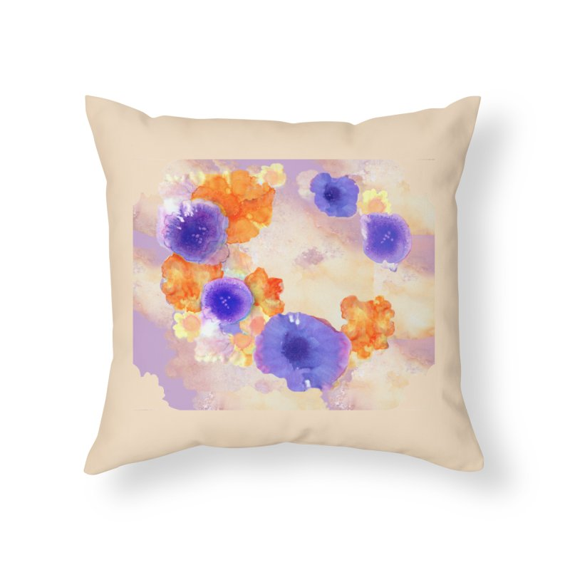 Flower Garden Home Throw Pillow by Patricia Howitt's Artist Shop
